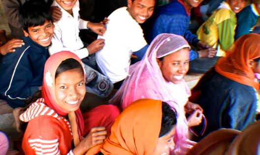 Were it not for the gentle and tactful work of GoodWeave many young Muslim girls in India, such as these students, would face only the prospect of child marriage without hope of an education.
